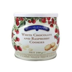 کوکی کره ای شکلات سفید و رزبری رویال دنسک