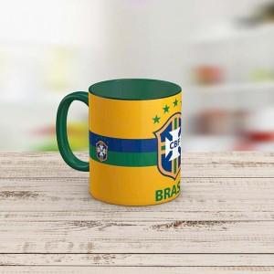 ماگ تو رنگی طرح تیم ملی برزیل