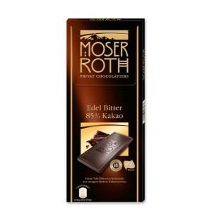 تابلت شکلات تلخ 85% موزر روث