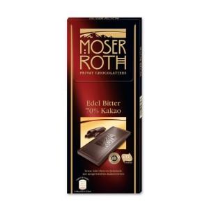 تابلت شکلات تلخ 70% موزر روث