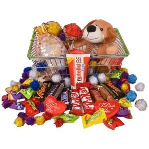 پک هدیه شکلات و عروسک کد H122