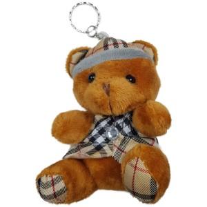 عروسک خرس کلاه دار قهوه ای