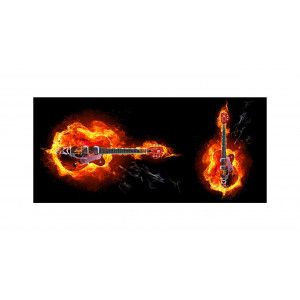 ماگ جادویی طرح Fire Guitar
