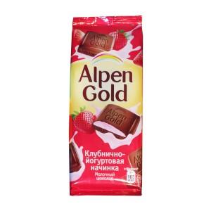 تابلت شکلات آلپن گلد با طعم توتفرنگی و شیر