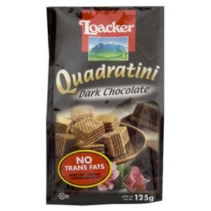 ویفر لقمه ای شکلات تلخ  لواکر (پاکتی 125 گرمی)