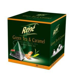 دمنوش رنه مدل Green Tea and Caramel