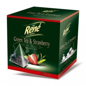 دمنوش میوه ای رنه مدل Green Tea and Strawberry