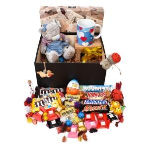 پک هدیه شکلات و عروسک سایز 2 کدH031