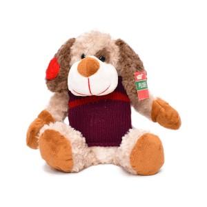 عروسک کریسمس هاوس مدل سگ بنفش