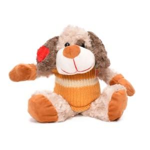 عروسک کریسمس هاوس مدل سگ نارنجی کم رنگ