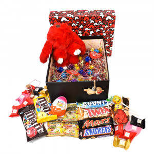 پک هدیه شکلات و عروسک سایز 4 کد H011