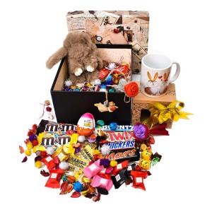 پک هدیه شکلات و عروسک سایز 3 کد H020