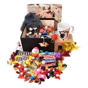 پک هدیه شکلات و عروسک سایز 3 کد H021