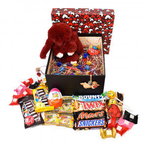 پک هدیه شکلات و عروسک سایز 4 کد H012