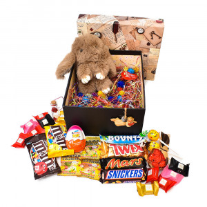 پک هدیه شکلات و عروسک سایز 4 کد H017