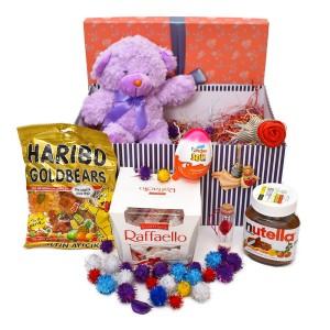 پک هدیه شکلات و عروسک سایز 1 کد H053