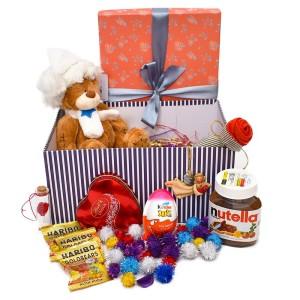 پک هدیه شکلات و عروسک سایز 3 کد H056