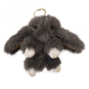 عروسک خرگوش مدل لاکچری خاکستری