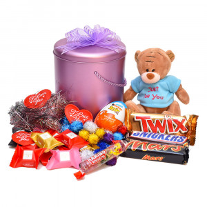 پک هدیه شکلات و عروسک کد H004