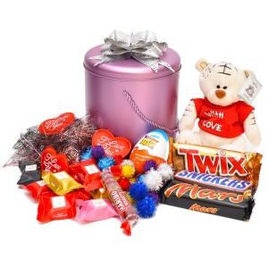 پک هدیه شکلات و عروسک کد H009