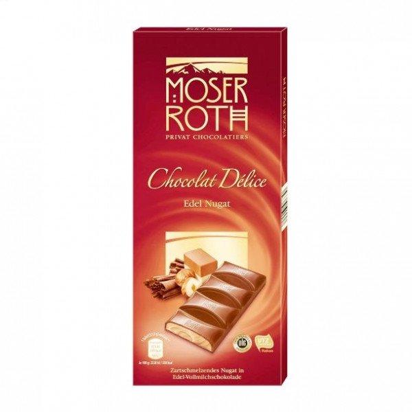 moser roth chocolate délice nougat