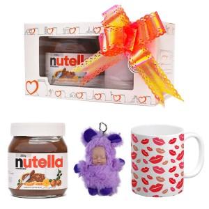 پک هدیه ماگ و عروسک و نوتلا کد Gift003