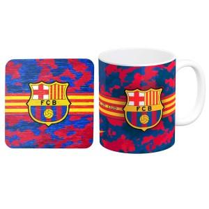 ماگ طرح بارسلونا به همراه زیر لیوانی