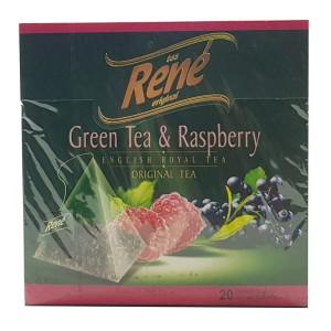 دمنوش میوه ای رنه مدل Green Tea and Raspberry