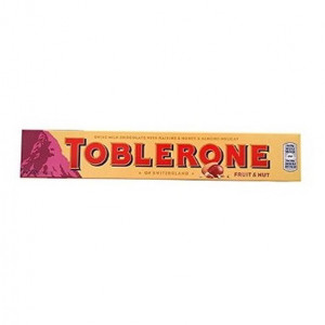 toblerone fruit & nut chocolate