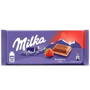 تابلت شکلات با طعم توت فرنگی میلکا