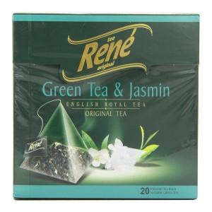 دمنوش گیاهی رنه مدل Green Tea and Jasmine