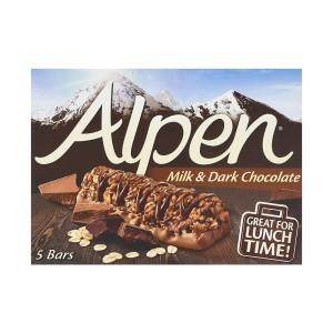 غلات بار آلپن طعم شکلات تلخ و شیری