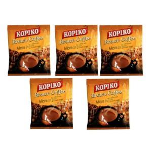 5 عدد ساشه 25 گرمی کافی میکس با شکر قهوه ای کوپیکو