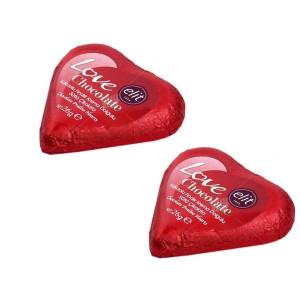 دو عدد شکلات کادویی قلبی الیت
