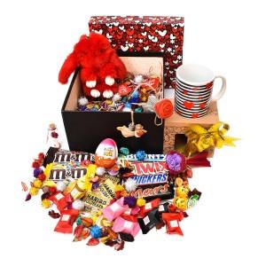 پک هدیه شکلات و عروسک سایز 3 کد H023