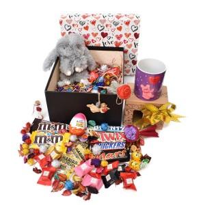 پک هدیه شکلات و عروسک سایز 3 کد H026