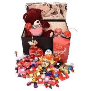 پک هدیه شکلات و عروسک سایز 1 کد H038