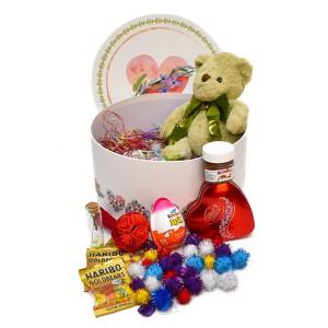 پک هدیه شکلات و عروسک سایز 2 کد H054