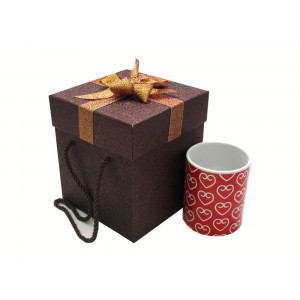 جعبه کادویی اکلیلی قهوه ای (سایز بزرگ)