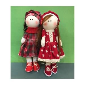 عروسک طرح دختر روس مجموعه 2 عددی