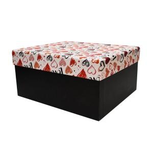 جعبه کادویی طرح قلب رنگی سایز 3
