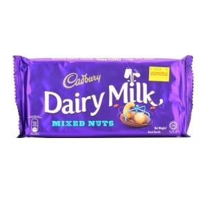 cadbury dairy milk mixed nuts