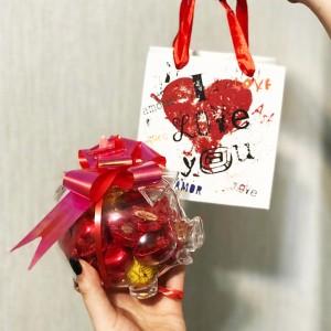 پک قلک هدیه شکلات با بسته بندی کادویی