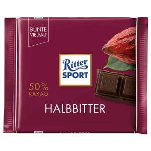 تابلت شکلات تلخ 50% ریتر اسپرت