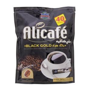 قهوه فوری جینسینگ دار بلک گلد علی کافه