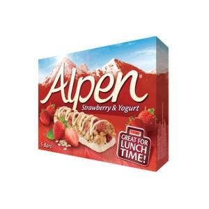 غلات بار آلپن طعم توت فرنگی و ماست
