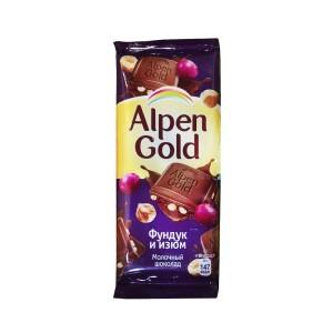 تابلت شکلات آلپن گلد با مغز فندق و زغال اخته
