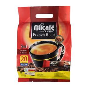قهوه فوری فرنچ روست کلاسیک 3 در 1 علی کافه (بسته 20 عددی)