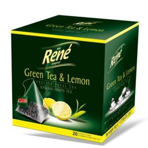 دمنوش میوه ای رنه مدل Green Tea and Lemon