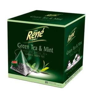 دمنوش گیاهی رنه مدل Green Tea and Mint